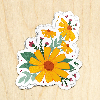 Yellow Daisy - 10 Stickers