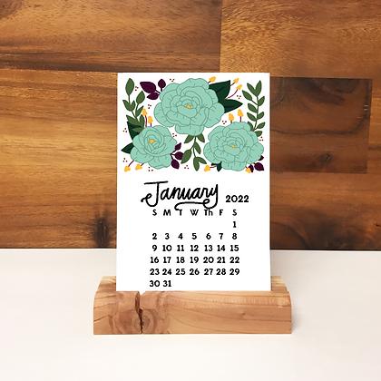 2022 Floral Desk Calendar