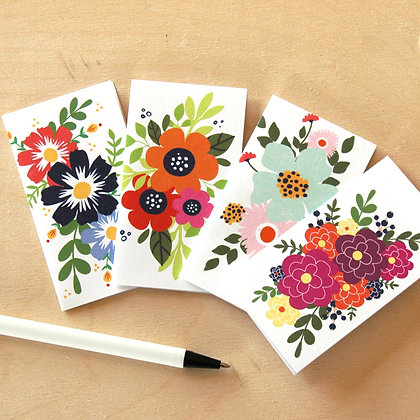 Floral Mini Notes