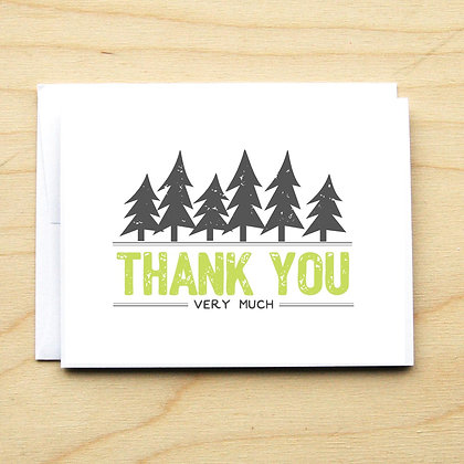 Distressed Trees - Card Set