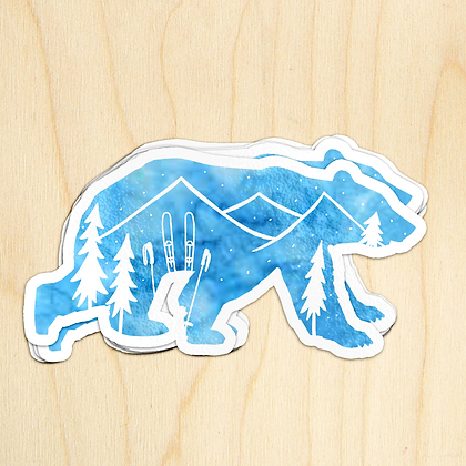 Winter Bear - 10 Stickers