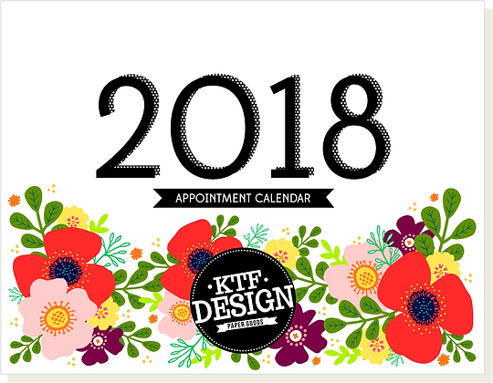 2018 Floral Appointment Calendar