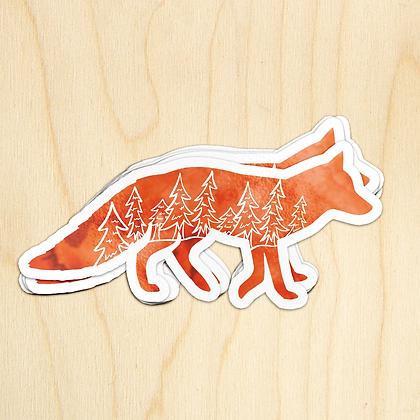 Fox Sticker - 10 Sticker
