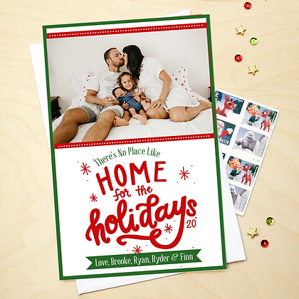 Home for the Holidays- Photo Card