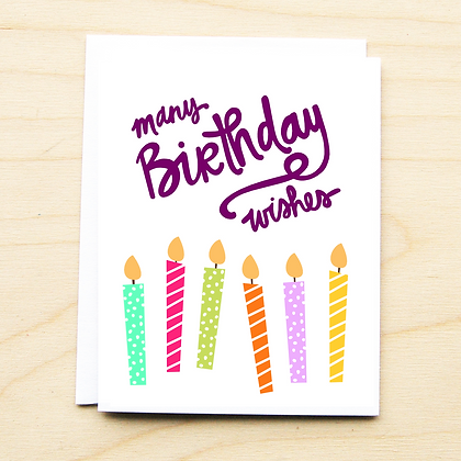 Wish Birthday - 6 Cards