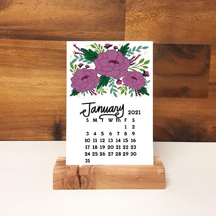 2021 Floral Desk Calendar