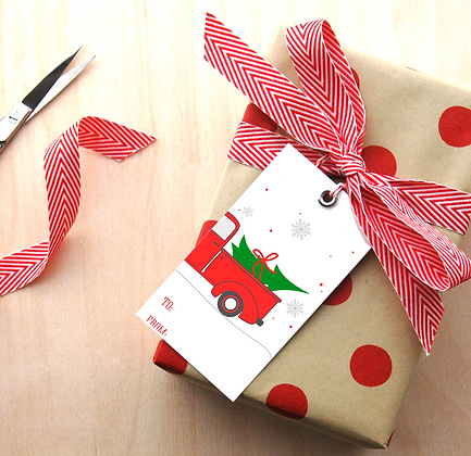 Red Truck Gift Tags