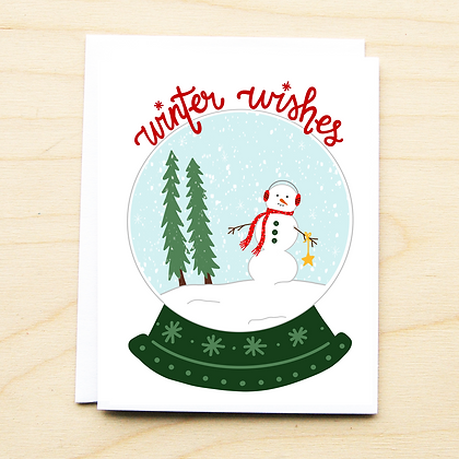 Snow globe Wishes- 6 Cards