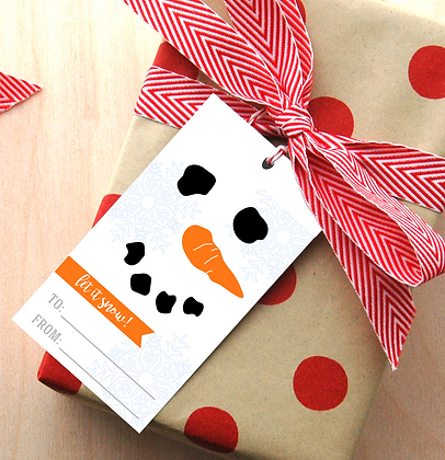 Snowman Gift Tags - 4 Sets