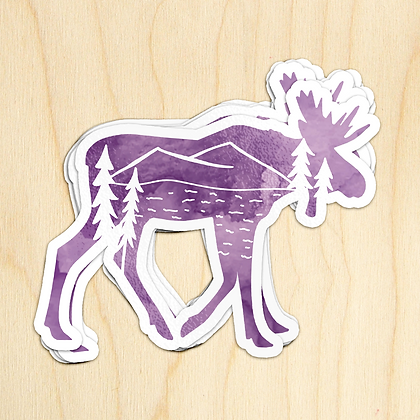 Moose Sticker - 10 Sticker