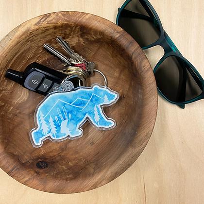 Winter Bear Keychain