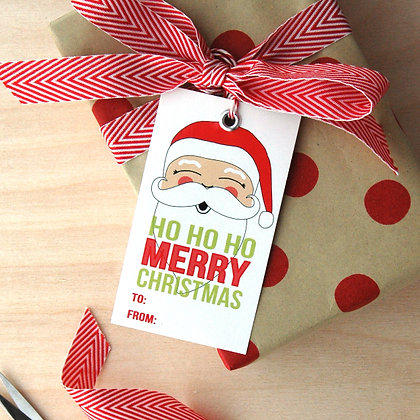 Santa Gift Tag Set - 4 Sets