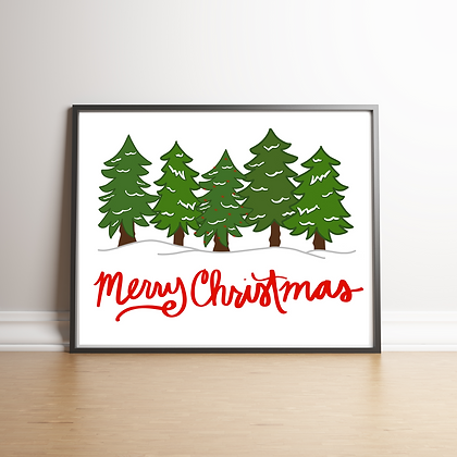 Merry Tree Art Print