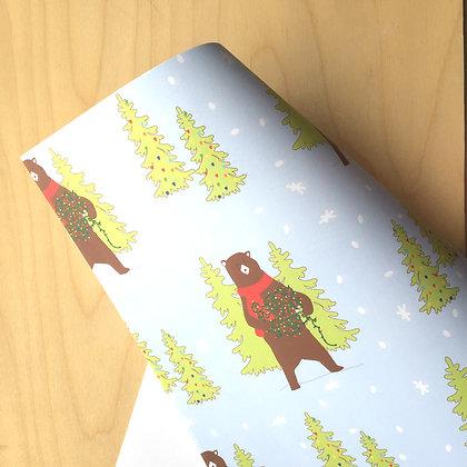 Bear - Holiday Gift Wrap