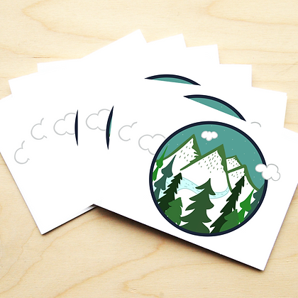 Round Mountains - 2 Card Sets