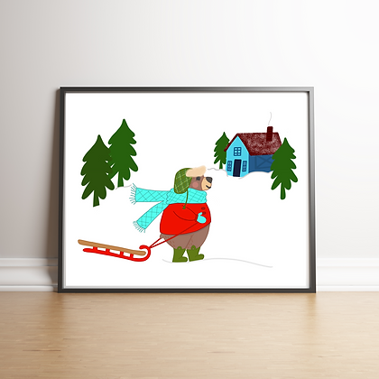Bear Winter Art Print