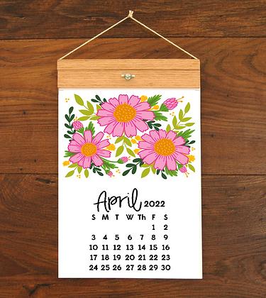 2022 Floral Wall Calendar