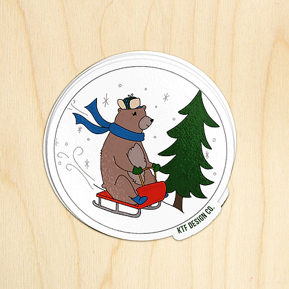 Bear Sled - 10 Stickers
