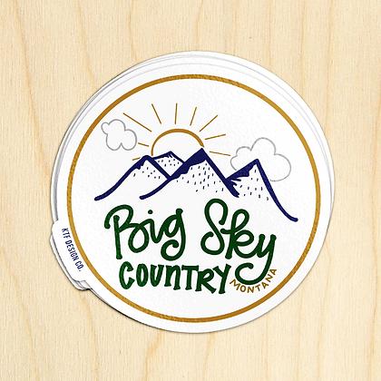 Round Big Sky Sticker