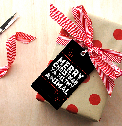 Filthy Animal Gift Tags - 4 Sets