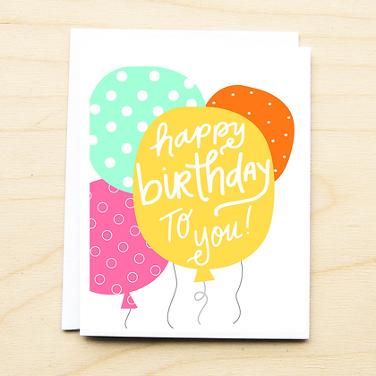 Balloon Birthday - 6 Cards