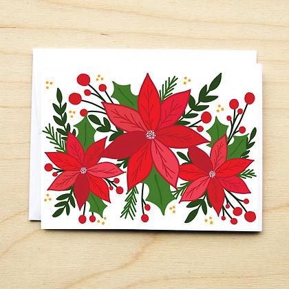 Poinsettia - 6 Cards