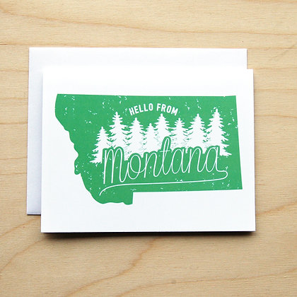 Montana Trees - Card Sets