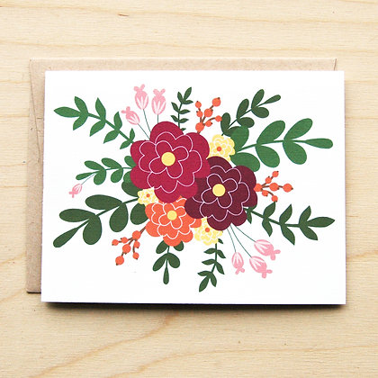 Purple Floral - 6 Cards