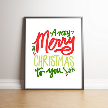 Very Merry Art Print