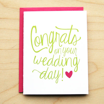 Congrats Wedding - 6 Cards
