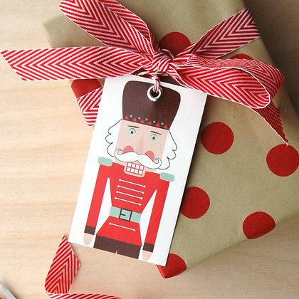 Nutcracker Gift Tag Set - 4 Sets