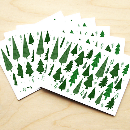 Forest Trees - 2 Card Sets