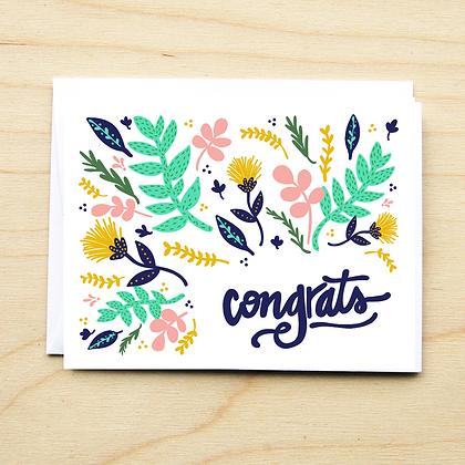Congrats Floral - 6 Cards