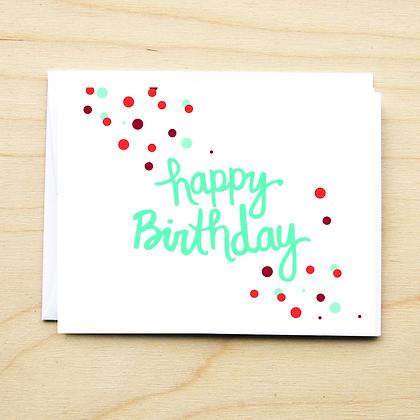 Confetti Birthday - 6 Cards