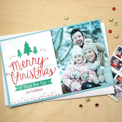 Polka Dot Holiday - Photo Card