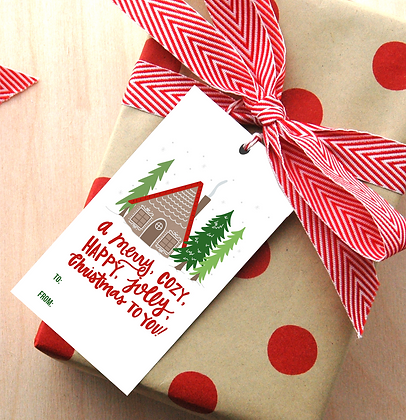 Cozy Cabin Gift Tags - 4 Sets