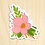 Thumbnail: Pink Flower - 10 Stickers