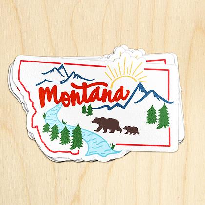 Montana Scene Sticker