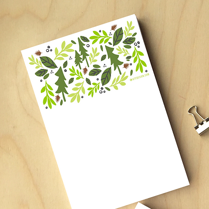 Forest Notepad - 6 Notepads