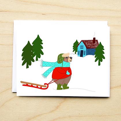 Bear Winter Card