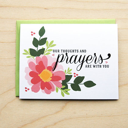 Prayers Sympathy - 6 Cards