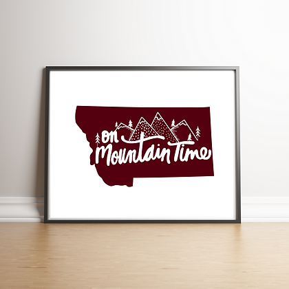 Montana Mountain Time Art Print