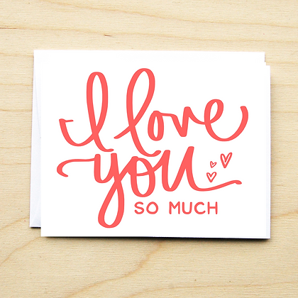 I Love You - 6 Cards