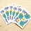 Thumbnail: Blue Floral - 2 Card Sets
