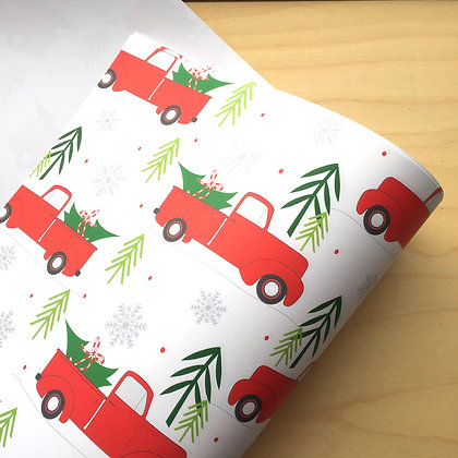 Red Truck - Holiday Gift Wrap