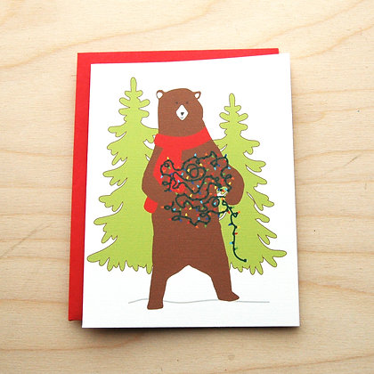 Bear Holiday Card