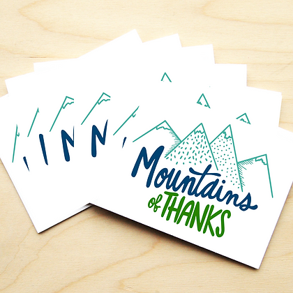 Mountains of Thanks - 2 Card Sets
