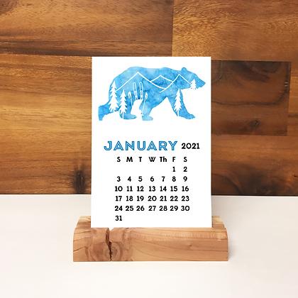 2021 Wildlife Desk Calendar - 6 Calendars