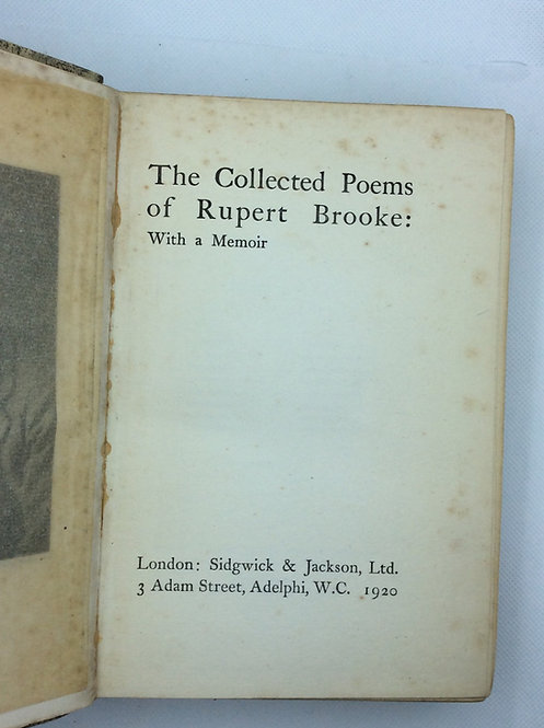 The Poems of Rupert Brooke, 1920