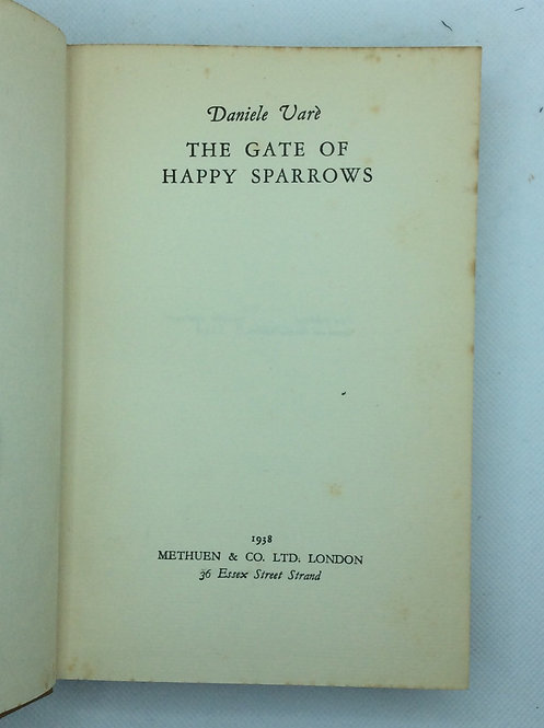 The Gate of Happy Sparrows